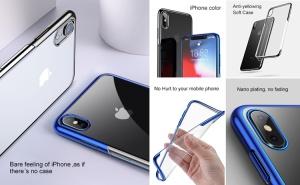 Ốp dẻo viền xi hiệu Baseus Shining Series iPhone Xs Max
